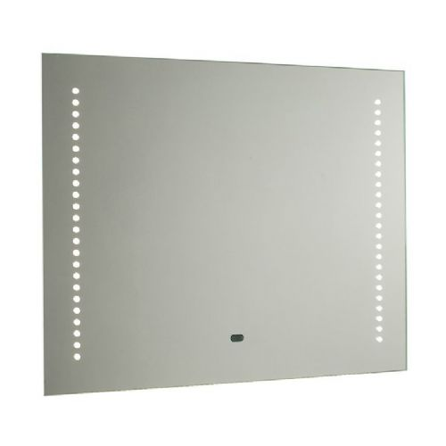 LED Mirrored glass & matt silver effect paint IP44 Bathroom Mirror Light + Shaver Socket 60895